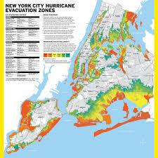 map of new york city map nyc has new hurricane evacuation zones gothamist