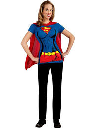 amazon com dc comics super t shirt with cape costume clothing