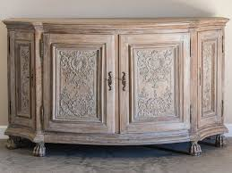 antique german rococo period carved oak buffet four doors circa