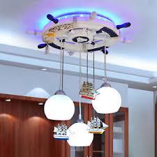 pirate ship light fixture modern led mediterranean pirate ship children s room pendant