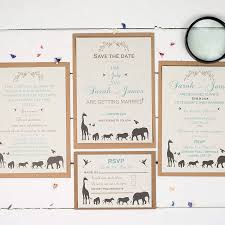 wedding invitation set elegance safari wedding invitation set by talk of the town