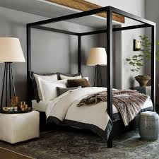Modern Canopy Bed Frame Canopy Bed In Black