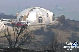 this concrete dome home survived a wall of flames without a scorch