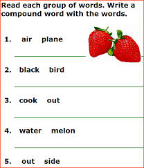 compound words for kids free english grammar worksheets