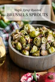 maple syrup roasted brussels sprouts vegan thanksgiving side dish