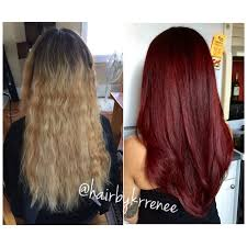 how chelsea houska dyed her hair so red before and after blonde to dark red hair for fall such a