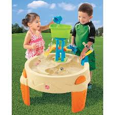 step2 wheels table step2 big splash waterpark includes a water wheel and a water slide