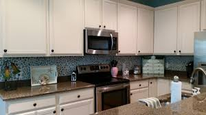 kitchen green glass subway tile backsplash kitchen transitional
