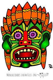 imagenes mayas para imprimir máscara maya 3 manualidades infantiles