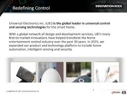 universal electronics ueic presents at deutsche bank 2017