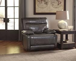 sleek recliner palladum metal power rocker recliner from ashley u7260198
