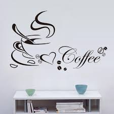 pvc love coffee pattern wall stickers living room bedroom tv sofa see larger image