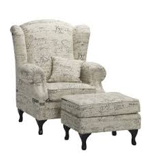 French Wingback Chair Versaille Wing Chair Writing Fabric The French Corner The