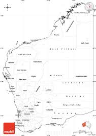 Blank Map Of Australia by Blank Simple Map Of Western Australia