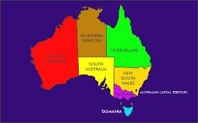 states australia map australia states map and in world maps