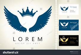 Crown Business Cards Wings Crown Vector Business Card Template Stock Vector 463182254