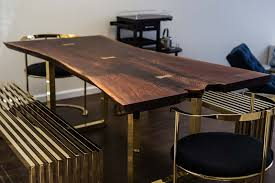 Wood Dining Room Tables And Chairs by Live Edge Wood Slab Tables And Furniture Re Co Bklyn