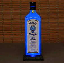 Led Blue Light Bar by Bombay Sapphire Blue Led 1 Liter Liquor Bottle Lamp Night Light