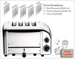 Dualit 6 Slice Toaster Dualit 4 Slice Bread Toaster Spares Aj Stuart
