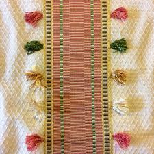 nl239 tasseled stripe weave tassel striped geo upholstery home