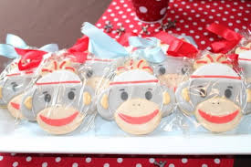 Sock Monkey Favors by On A Budget A Sock Monkey Baby Shower For 100 Catch My