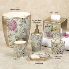 York Bathroom Accessories by Home Bath Bath Accessories Watercolor Floral Mosaic Bath