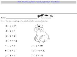 subtraction subtraction worksheets kidzone free math
