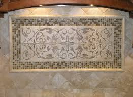kitchen tile backsplash murals beige color decorative tile backsplash with murals tiles