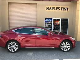 tesla dealership tesla model s outfitted with 98 ir rejection huper optik drei