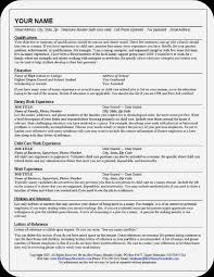 impressive cv examples resume for nanny babysitter unforgettable full time nanny resume
