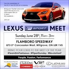 lexus dealerships in toronto area magic of erin park lexus f sport meet going beyond social at f