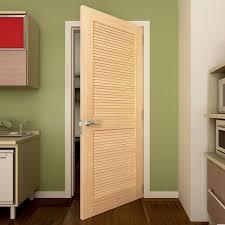 Slab Interior Door Kiby Solid Wood Louvered Slab Interior Door Reviews Wayfair