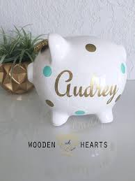 customized piggy bank baby valentines day gift personalized piggy bank