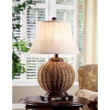 Wicker Table Lamp Wicker Light Brown Lamp Shades Hollywood Thing