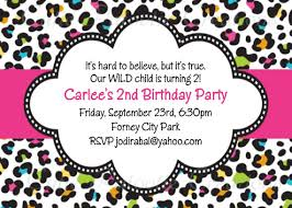 cheetah print party supplies leopard print birthday invitation printable or printed