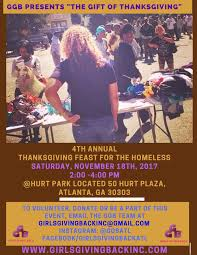 ggb presents the 4th annual gift of thanksgiving feast for