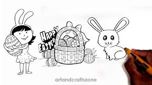 how to draw easter things easter drawing ideas easter drawings