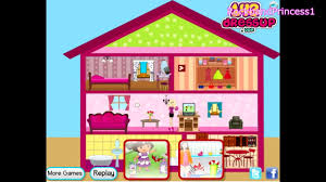barbie doll house game barbie decorating game video dailymotion