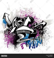 graffiti design graffiti design vector photo bigstock