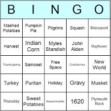thanksgiving bingo cards printable bingo activity and