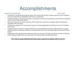 Resume Executive Summary Examples by Cv Ppt