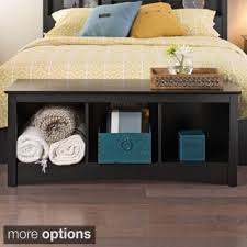 three cubby storage bench free shipping today overstock com