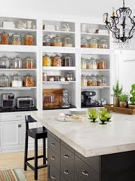 Closed Kitchen Big Storage For Diy Small Kitchen With Green Glass Side White