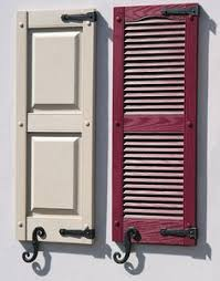 Spray Paint Vinyl Shutters - shutter style for outside shutters cranberry color will