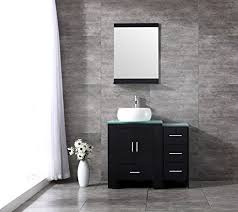 Bathroom Vanities With Bowl Sink Sliverylake 36inch Black Bathroom Vanity Cabinet Top Single Vessel