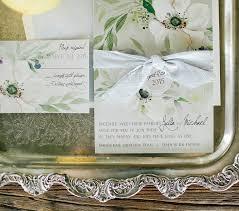 press white anemone hand painted wedding invitations momental