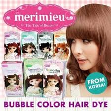 popular hair colour for korean qoo10 popular merimieu smoothy foam color hair dye from korea