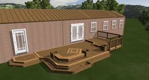deck plans for mobile homes front porch with metal cover home