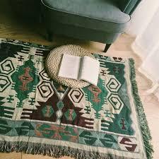 ou jeter un canapé pur coton tapis mince couverture style ethnique jeter tapis