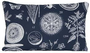 Ikea Throw Pillows by Amazon Com Plants And Bugs Decor Pillow Case Navy Cushion Cover